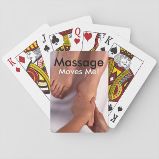"""Massage Moves Me!"" Playing Cards"