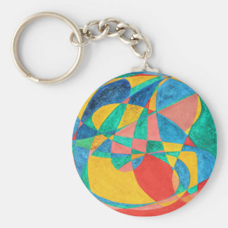 MASSAGE painted in abstract word art, text art Keychain