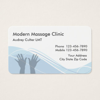 Massage Services Modern Businesscards Business Card