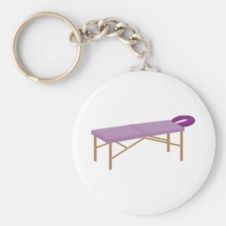 Massage Table Basic Round Button Keychain