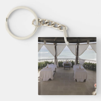 Massage Tables Single-Sided Square Acrylic Keychain