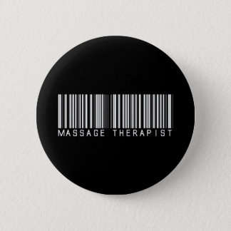 Massage Therapist Bar Code 2 Inch Round Button