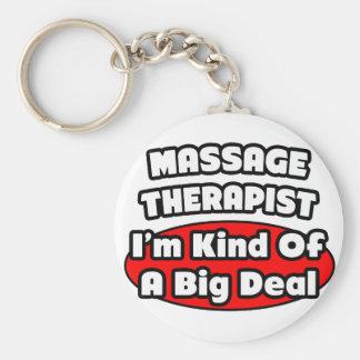 Massage Therapist...Big Deal Basic Round Button Keychain
