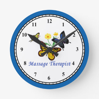 Massage Therapist Butterflies Clock