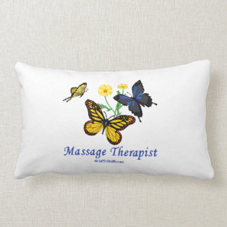 Massage Therapist Butterflies Lumbar Pillow