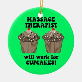 massage therapist ceramic ornament