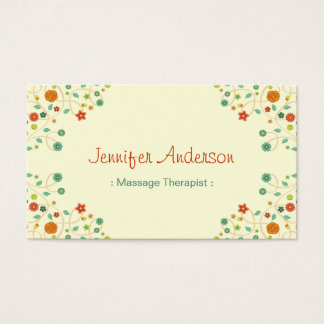 Massage Therapist - Chic Nature Stylish Business Card