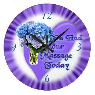 Massage therapist clock-customize wall clock
