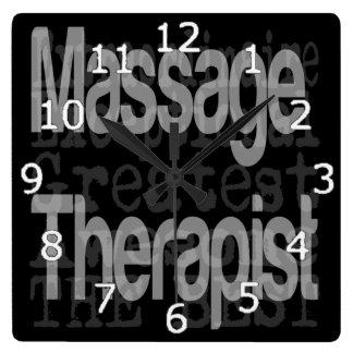 Massage Therapist Extraordinaire Square Wall Clock