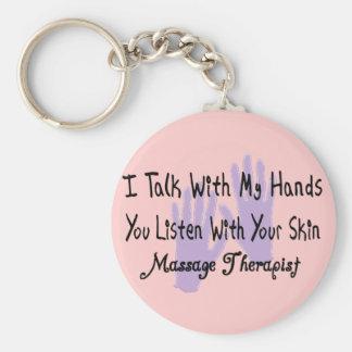 Massage therapist Gifts--Hands Design Basic Round Button Keychain
