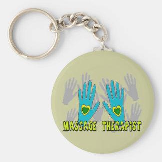Massage Therapist Gifts Basic Round Button Keychain