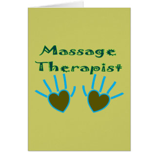 Massage Therapist Heart Hands Gifts Card