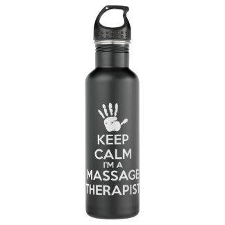 Massage Therapist - Keep Calm 710 Ml Water Bottle
