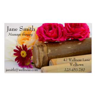 Massage therapist Natural Therapies Wellness Business Card Templates
