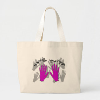 Massage Therapist PINK  Hands Design Large Tote Bag