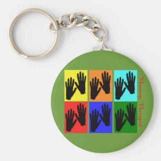 Massage Therapist Pop Art Gifts Basic Round Button Keychain