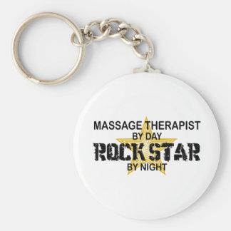 Massage Therapist Rock Star Keychains