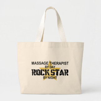 Massage Therapist Rock Star Large Tote Bag