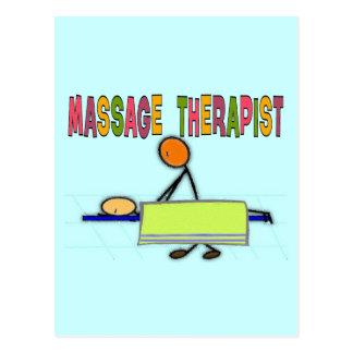 Massage Therapist Stick People Design  Gifts Postcard