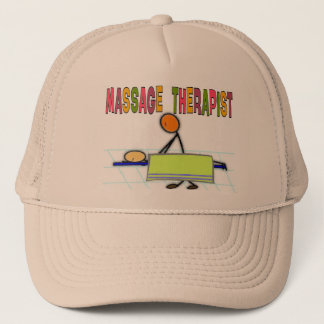 Massage Therapist Stick People Design  Gifts Trucker Hat