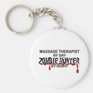 Massage Therapist Zombie Hunter Keychains