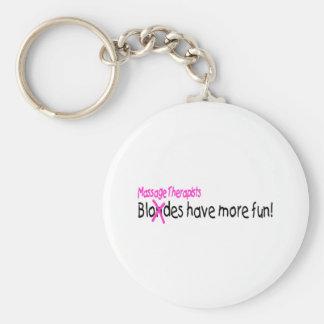 Massage Therapists Have More Fun Basic Round Button Keychain