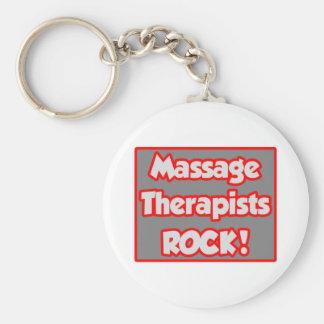 Massage Therapists Rock! Key Chains