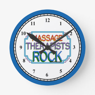 Massage Therapists Rock Wallclocks