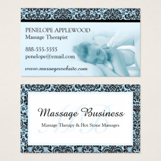 Massage Therapy Business Card / Blue