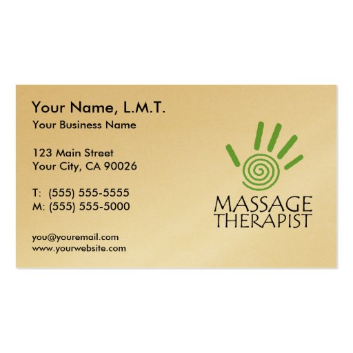 Massage therapy business cards zazzle for Massage therapy business card templates