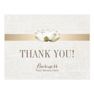 Massage Therapy Elegant Lotus Salon SPA Thank You Postcard