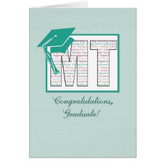 Massage Therapy Graduation Congratulations, MT Hat Card