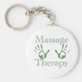 Massage therapy hand prints key chains