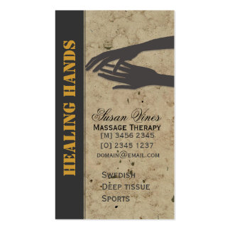Massage Therapy  Healing Hands Business Cards