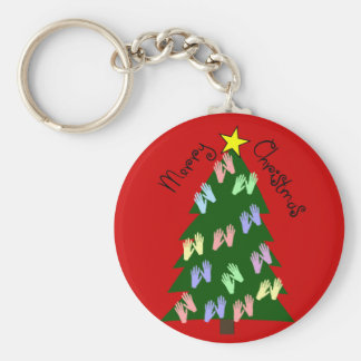 Massage Therapy MERRY CHRISTMAS Gifts Basic Round Button Keychain
