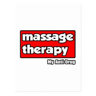 Massage Therapy..My Anti-Drug Postcard