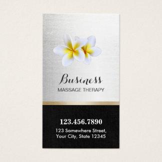 Massage Therapy Plumeria Flowers Salon Spa Business Card