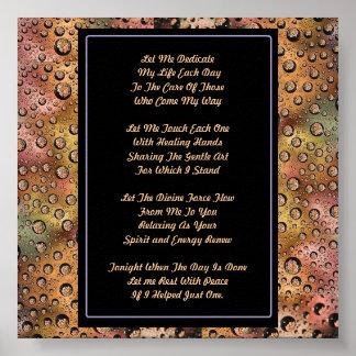 Massage Therapy Prayer Poster