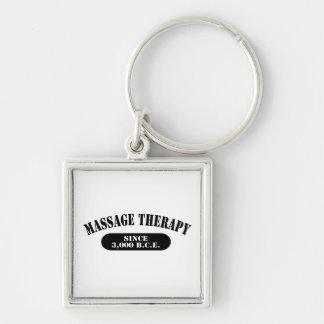 Massage Therapy Since 3,000 B.C.E. Silver-Colored Square Keychain