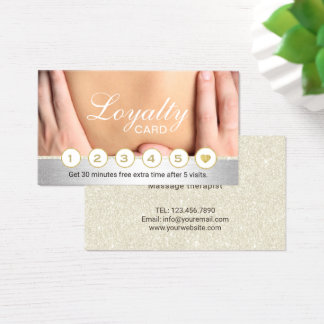 Massage Therapy Therapist Loyalty Reward Business Card