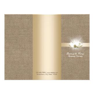Massage Therapy Yoga Glowing Lotus Buralp Tri-Fold Flyer
