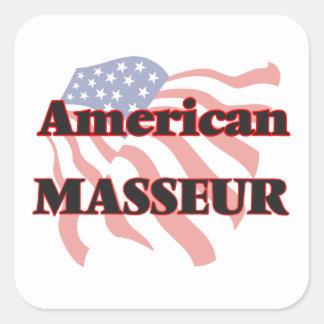 Masseur américain sticker carré