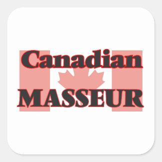 Masseur canadien sticker carré