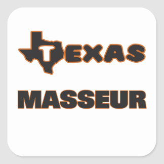 Masseur du Texas Sticker Carré