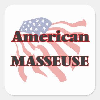 Masseuse américaine sticker carré