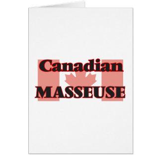 Masseuse canadienne carte de vœux