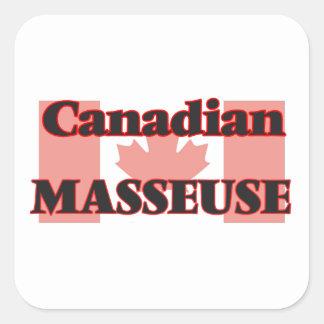 Masseuse canadienne sticker carré