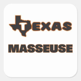 Masseuse du Texas Sticker Carré