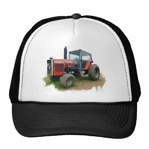 Massey Ferguson Red Tractor in the Field Mesh Hat