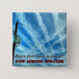 Massive Chemtrail Grid 2 Inch Square Button